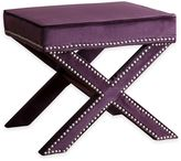 Abbyson Living® Arc Ottoman Bench in Purple