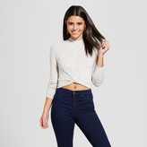 Xhilaration Women's Wrap Front Cropped Sweater Juniors')