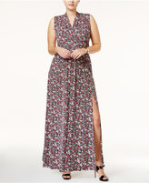 MICHAEL Michael Kors Size Brooks Side-Slit Maxi Dress