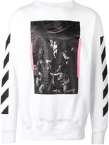 Off-White painting print sweatshirt - men - Cotton - XS
