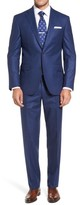 David Donahue Men's Ryan Classic Fit Solid Wool Suit