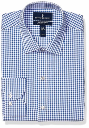 Buttoned Down Men's Slim Fit Tech Stretch CoolMax Easy Care Dress Shirt