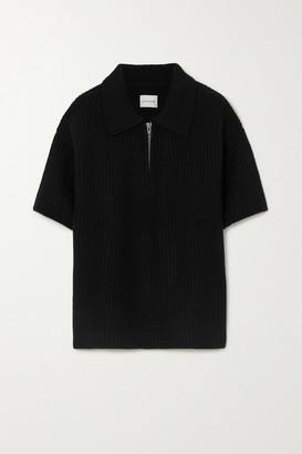 LOULOU STUDIO Rusinga Ribbed Cashmere Sweater - Black