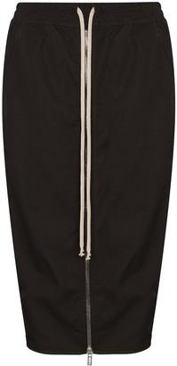 Rick Owens Pillar high-waist midi skirt