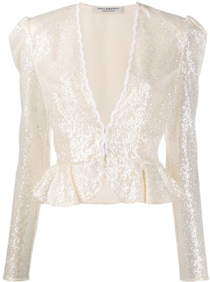 Philosophy di Lorenzo Serafini Sequinned Peplum Jacket