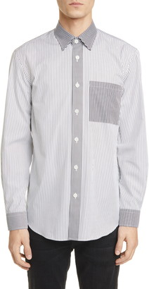 Burberry Chatteris Classic Fit Stripe Button-Up Shirt