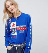 Converse Exclusive One Star Boyfriend Fit Long Sleeve T-Shirt With Badge Logos