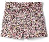 Gap Floral ruffle tie-belt shorts