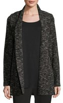 Eileen Fisher Tweedy Knit Boyfriend Blazer, Black, Plus Size