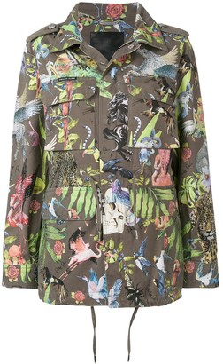 Philipp Plein Animal Print Military Jacket