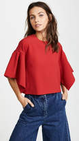 Edit Oversized Box Pleat Top