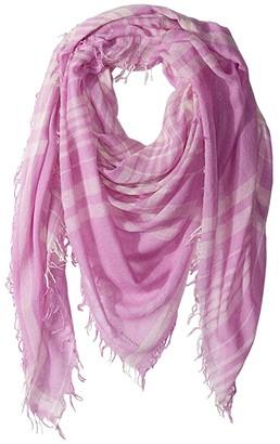 Chan Luu Cashmere Silk Bright Plaid Scarf (Violet) Scarves