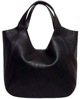 Urban Originals 'Masterpiece' Perforated Faux Leather Tote - Black