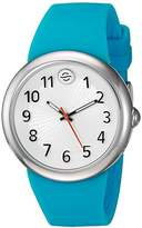 Philip Stein Teslar ' Japanese Quartz Stainless Steel and Silicone Watch, Color:Blue (Model: F36S-SW-TQ)