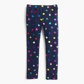 J.Crew Girls' everyday leggings in iridescent dots