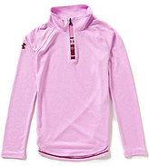 Under Armour Big Girls 7-16 Textured-Stripe 1/4-Zip Tee