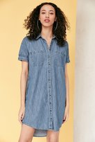 BDG Rosalynn Chambray Collared Shirt Dress
