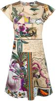 Etro butterfly print flared dress - women - Cotton - 44