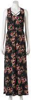 Trixxi Juniors' Floral Cross Front Maxi Dress