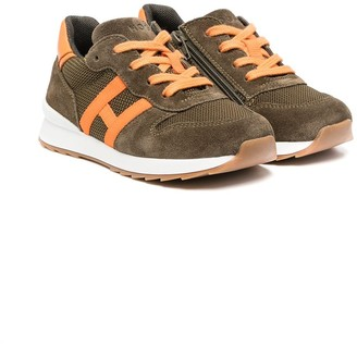 Hogan Lace-Up Suede Trainers