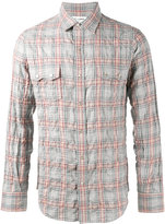 Saint Laurent rinse check shirt - men - Cotton/Spandex/Elastane/Lyocell - S