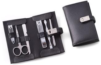 Bey-Berk 6-Piece Manicure Set in Leather Case