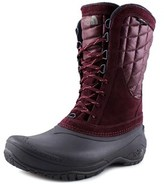 The North Face Thermoball Utility Mid Women Round Toe Leather Purple Winter Boot.