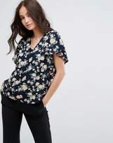 Y.a.s Shanti Floral Print Ruffle Sleeve Blouse