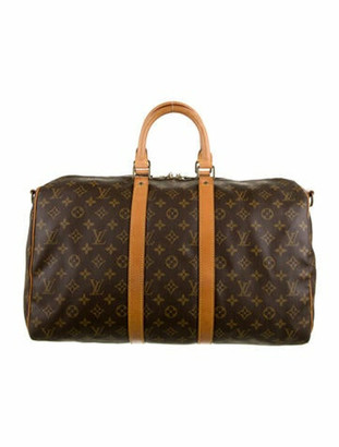Louis Vuitton Vintage Monogram Keepall Bandouliere 45 Brown