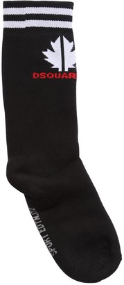 DSQUARED2 Cotton Blend Knit Socks