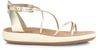 Ancient Greek Sandals Anastasia Metallic Flatform Sandals