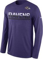 Nike Men's Baltimore Ravens Team Practice Long Sleeve T-Shirt