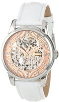 Stuhrling Original Women's 576.1115P53 Vogue Audrey Stella Stainless Steel Watch with Leather Band