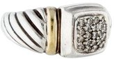 David Yurman Two-Tone Pave Diamond Cable Ring