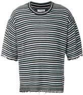 Maison Margiela distressed striped T-shirt