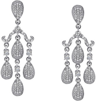 Lafonn Platinum Over Sterling Silver Simulated Diamond Chandelier Earrings
