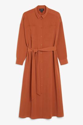 Monki Long shirt dress