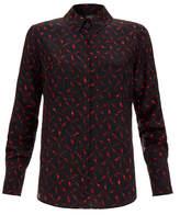 Saloni Bobby Amber Lightning Silk Crepe Shirt