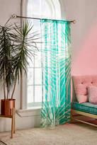 Urban Outfitters Batik Palm Print Window Curtain