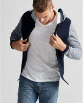 Express fleece full zip sweater hoodie