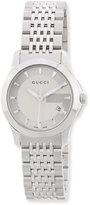 Gucci 27mm G-Timeless Small Stainless Steel Bracelet Watch
