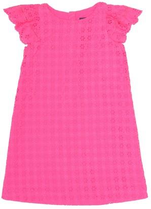 Polo Ralph Lauren Kids Cotton broderie anglaise dress