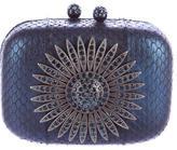 Kotur Embellished Snakeskin Evening Bag