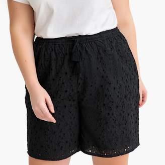 La Redoute Collections Plus Cotton Guipure Lace Shorts