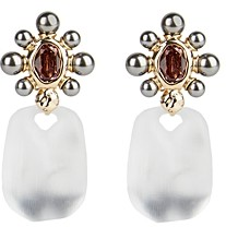 Alexis Bittar Lucite, Imitation Pearl & Crystal Clip-On Drop Earrings