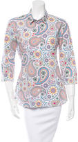 Jil Sander Printed Button-Up Top