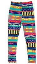 Expert Design Girl's Colorful Southwestern Pattern Print Leggings - L/XL