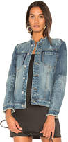 Blank NYC BLANKNYC Collarless Denim Jacket.