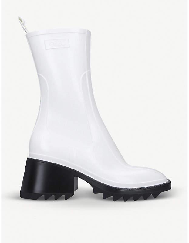 Chloé Betty rubber sock boots