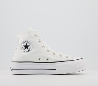 Converse Platform Hi Trainers White Black White